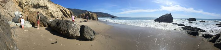 Leo Carillo State Beach - Malibu, CA. Beautiful day at Leo Carillo State Beach - Malibu, CA Stock Photo