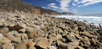 Leo Carrillo. Rocky beach north of Malibu Stock Image