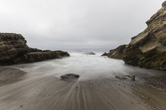 Leo Carrillo Beach with Motion Blur in Malibu Royalty Free Stock Image