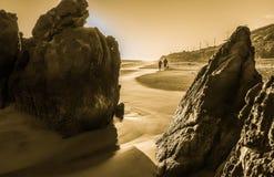 Leo Carrillo plaży zimy dzień Zdjęcie Royalty Free