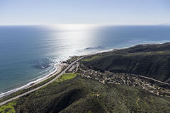 Leo Carrillo State Beach Malibu California Aerial Royalty Free Stock Photo