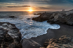 Leo Carrillo State Park Sunset Royalty Free Stock Photography