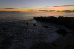 Leo Carrillo-Strandsonnenuntergang oceanscape lizenzfreie stockfotos