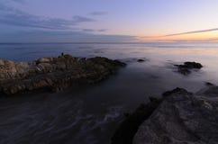 Leo Carrillo-Strandsonnenuntergang oceanscape stockfotografie