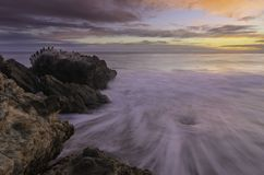 Leo Carrillo-Strandsonnenuntergang oceanscape lizenzfreies stockbild