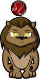 Leo cartoon. Leo zodiac sign in cute cartoon style Stock Photos