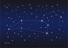 Leo constellation Royalty Free Stock Image