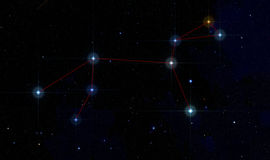 Leo constellation in deep space Royalty Free Stock Photos