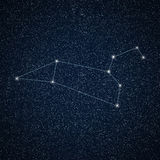 Leo constellation in night sky. Royalty Free Stock Image