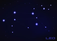 Leo constellation Royalty Free Stock Photos