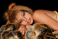 Leo girl. Lion or Leo woman, this photo is part of a series of twelve Zodiac signs of astrology stock images