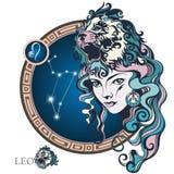 leo grafika projekta znaka symboli/lów dwanaście różnorodny zodiak Obraz Royalty Free