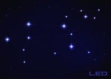Leo gwiazdozbiór Zdjęcia Royalty Free