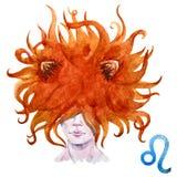 Leo horoscope raster Stock Images