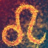 Leo horoskopu znak Ilustracji