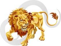 Leo il segno della stella del leone illustrazione vettoriale