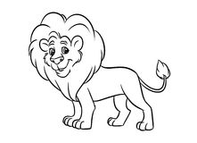 Leo illustration coloring pages Stock Photos