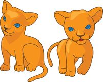 Leo kids vector illustration Royalty Free Stock Images