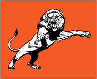 Leo king. Vector leo king in vintage style vector illustration