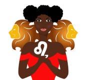 The leo lady royalty free illustration