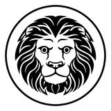 Leo Lion Astrology Horoscope Zodiac Sign Image libre de droits