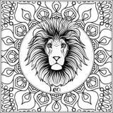 Decorative zodiac sign on pattern background. vector illustration