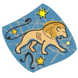 Leo the lion zodiac Royalty Free Stock Images