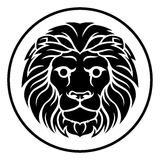 Leo Lion Zodiac Horoscope Astrology Sign Photos stock