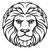 Leo Lion Zodiac Horoscope Sign Images stock