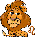 Leo or the lion zodiac sign. Cartoon Illustration of Leo or The Lion Horoscope Zodiac Sign Stock Images