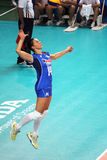 Leo lo bianco. The italian volleyball player eleonora lo bianco in action in the world cup match italy vs azerbaijan played at bari in italy.1/10/2014 Royalty Free Stock Photos