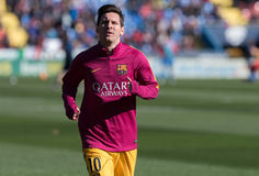 Leo Messi. In action during the match between Levante vs Barcelona Royalty Free Stock Photos