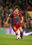Leo Messi of Barcelona. During the match between FC Barcelona and Real Zaragoza at the Nou Camp Stadium on March 5, 2011 in Barcelona, Spain Stock Image