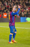 Leo Messi celebrating a goal Royalty Free Stock Images