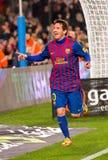 Leo Messi che celebra un obiettivo Fotografie Stock