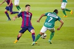Leo Messi de FC Barcelona Fotografía de archivo libre de regalías