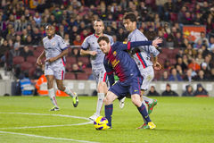 Leo Messi dribbling Stock Images