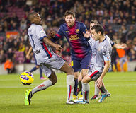 Leo Messi dribbling Royalty Free Stock Images