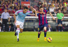 Leo Messi dribbling Royalty Free Stock Photos