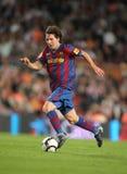 Leo Messi en la acción Fotografía de archivo
