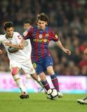 Leo Messi en la acción Fotografía de archivo libre de regalías