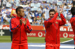 Leo Messi et Neymar de FC Barcelona Images libres de droits