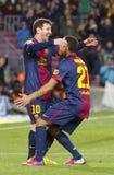 Leo Messi goal celebration Royalty Free Stock Image
