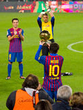 Leo Messi with Golden Ball Royalty Free Stock Image