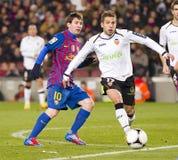 Leo Messi and Jordi Alba Stock Photography