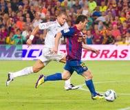 Leo Messi nell'azione Fotografie Stock