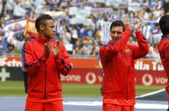 Leo Messi och Neymar av FCet Barcelona Royaltyfria Bilder