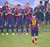 Leo Messi presentation Royalty Free Stock Photography