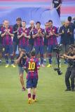 Leo Messi prezentacja Zdjęcia Royalty Free