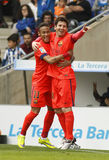 Leo Messi und Neymar von FC Barcelona Lizenzfreie Stockbilder